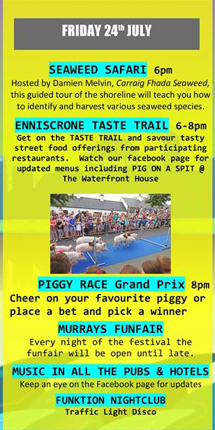 Enniscrone Black Pig Festival 2015 Friday