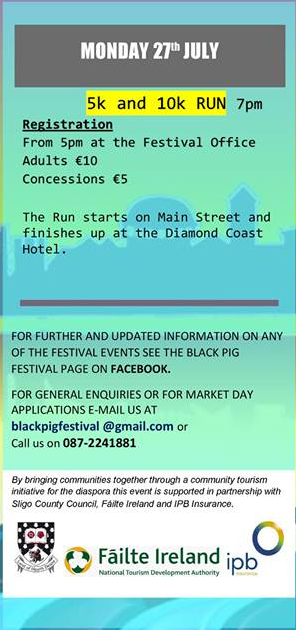 Enniscrone Black Pig Festival 2015 Monday