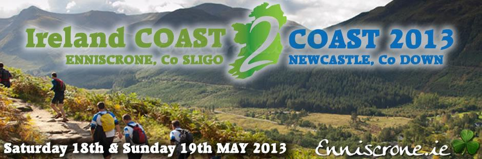 Ireland Coast to coast 18th and 19th of May 2013 Enniscrone Co. Sligo to Newcastle Co. Down