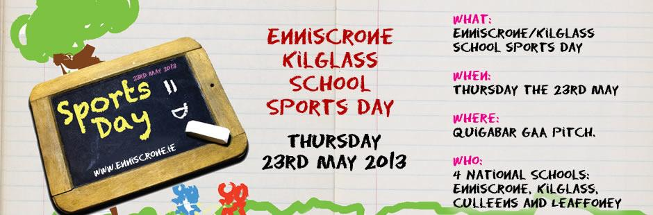Enniscrone / Kilglass Schools Sports Day 2013 - Thursday the 23rd May 2013 -  Quigabar GAA pitch